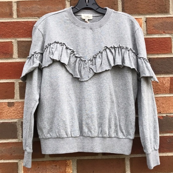 Melloday Sweaters - Melloday • Grey Fringe Sweater